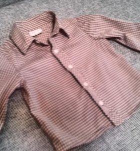 Рубашка на 6-9м.