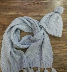 Шапка+шарф, весна/осень, комплект