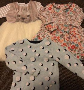 2 платья и кофта 100-104