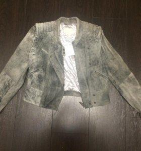 Кожаная куртка h&m новая