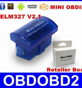 Мини Bluetooth ELM327 OBD ll версии V2.1