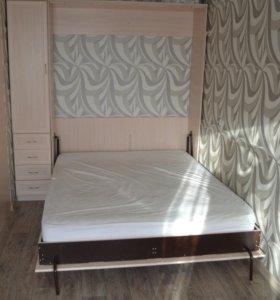 Двухспальная подъемная кровать