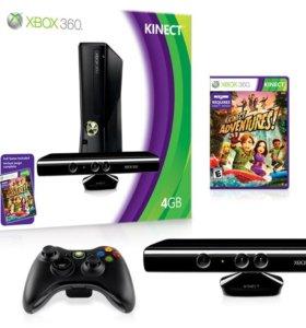 XBox 360 Kinect 320 Гб + Куча Игр