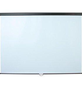 Экран настенный для проектора 180х180 см