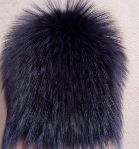 Шапка зимняя из чернобурой лисы