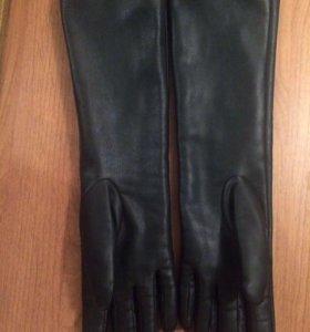 Новые длинные перчатки экокожа