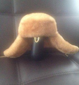 Тигейковая шапка-ушанка