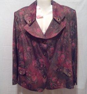 Блузка-пиджак,новая,вискоза.
