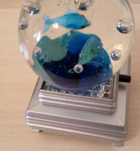 """Светящийся шар """"Рыбки в океане""""."""