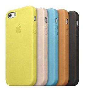 """Чехол """"Apple leather case"""" (копия) iPhone 5/5s/SE"""