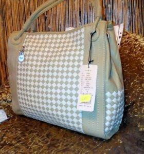 Новая натуральная кожаная сумка ванлима