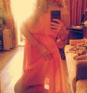 Шифоновое платье.