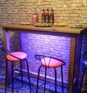 Барный стол (стойка) + 4 стула