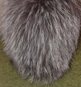 Шапка вязка чернобурка