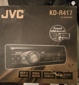 А/маг JVC KD-R417 без панели. Обмен на мобилу