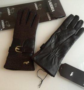 Новые кожаные перчатки Labbra