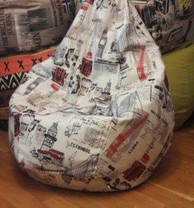 "Кресло мешок груша ""Путешествия"""