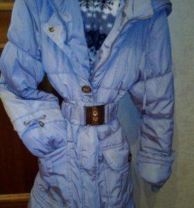 Пальто зимнее на девочку 158