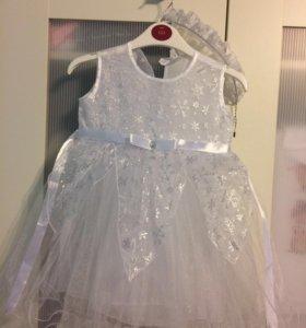 Платье новогоднее снежинка