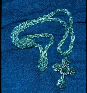 Крест и цепочка