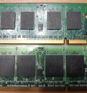 DDR2 so-dimm 2×512 Мб