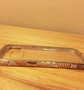 Бампер накладка чехол Samsung Galaxy S6 золото