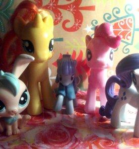 My little pony и lps игрушки