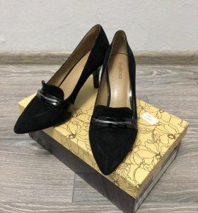 37 размер, женские туфли из натуральной замши