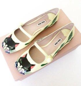 Miu miu лакированные туфли-балетки