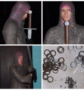 Кольчуга, настоящая рыцарская.