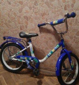 Детский велосипед stels flash 16 синий
