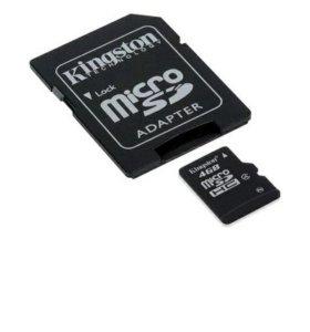 Флэшка Micro SD 4Gb