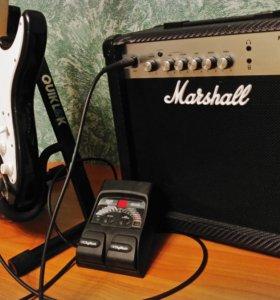 Гитара, усилитель, процессор