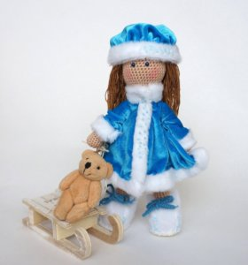 Вязаная кукла I'mDoll Снегурочка