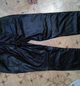 Мужские штаны из кож.зама