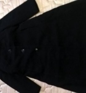 Пальто драповое теплое
