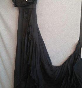 Шикарное шелковое платье Sassofono