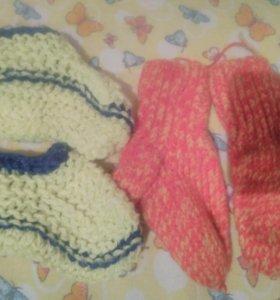 5 пар.носки детские вязаные
