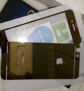 Стекло gold на iPhone 6-6s