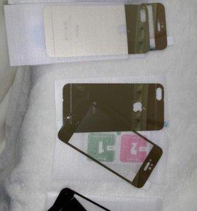 Стекло gold на iPhone 5-5s