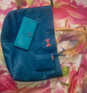 Новые сумка и кошелек