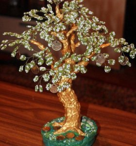 Денежное деревце из бисера