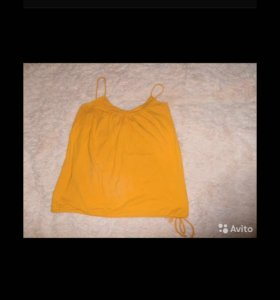 Яркий оранжевый топ 46-52(универсальный размер)