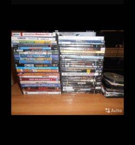 ДВД и CD диски разные более 70 штук