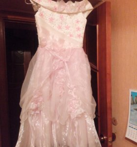 Бело розовое платье принцессы! 122