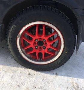 Обменяю колеса на 14литьё с зимней резиной