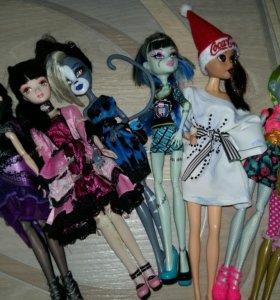 Куклы:монстер хай,эвэр афтер хай,барби,мокси.