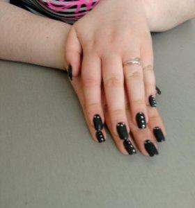 Наращивание ногтей любая длинна,маникюр,педикюр