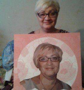 """Портреты """"полигон"""""""