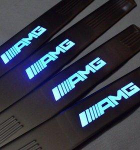 AMG светящиеся Накладки на пороги